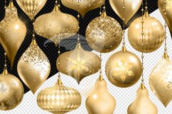 Gold Christmas Ornament Clipart Product Image 3