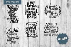 Home SVG bundle, Family quote cut file bundles, Home svgs Product Image 2