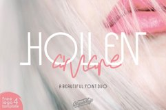 Hollen Amare Font Duo - free logo template Product Image 1