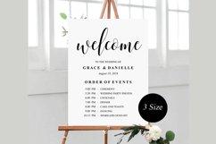 wedding welcome sign, wedding welcome Template Product Image 1