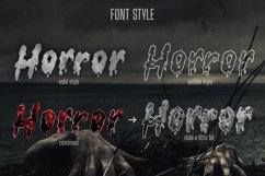 serrem - a spooky two style font Product Image 2