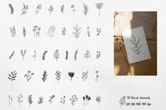 Boho Clipart with Plants and Abstract Shapes, Florals Product Image 6