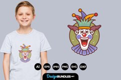 Happy Clown Face for T-Shirt Design Product Image 1