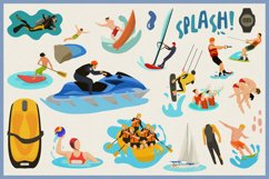 Water Sports Vector Clipart and Seamless Patterns Product Image 4