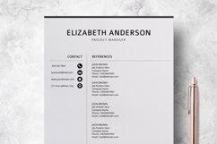 Resume Template | CV Cover Letter - Elizabeth Anderson Product Image 4