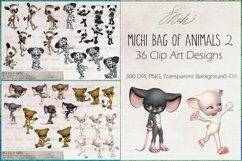 Michi Bag Of Animals 2, Clip Art, Sublimation Product Image 1