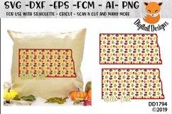 North Dakota Autumn Fall Leaves Pattern SVG Product Image 1