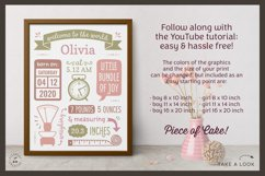 BIRTH ANNOUNCEMENT template|GOOGLE edit|Baby Stats printable Product Image 3