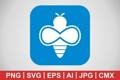 Vector Bee Icon Product Image 1