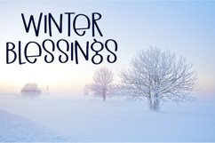 Winter Vibes - A Quirky Hand-Lettered Font Product Image 2
