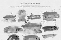 Watercolor Shapes Botanical Overlays Product Image 2