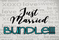 Just Married BUNDLE Cut Files - SVG & PNG Product Image 2
