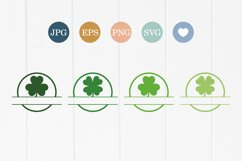 Shamrock SVG clovers silhouette cut file, St. Patrick's Day Product Image 2