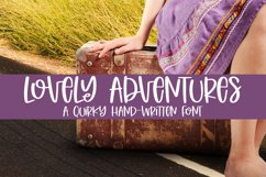 Lovely Adventures - A Quirky Hand-Written Font Product Image 1