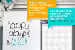 Play Time Script - A Fun and Quirky Font   Open Path Font Product Image 5