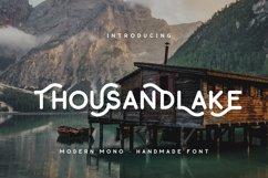 Thousand Lake - Handmade Font Product Image 1