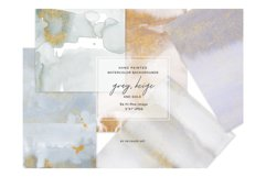 Watercolor Glittered Gray & Beige Background 5x7 Product Image 3