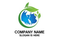 earth and leaf logo combination Product Image 1