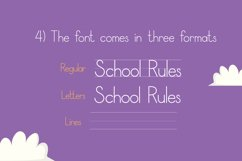 School Rules Font Product Image 6