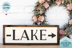 Lake with Arrow Sign, Beach House Decor SVG Product Image 1