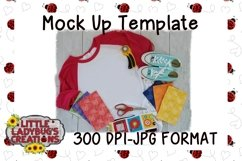 Crafty Raglan Mock Up Digital Image Product Image 1