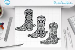 Cowboy Boot Mandala SVG, Country Western, Mandala Clipart. Product Image 2