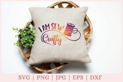 I am sew crafty svg file, Crafty svg files, Sewing svg files Product Image 3