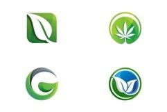 Leaf logo design templates Product Image 1