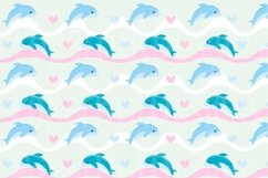 Girls Sea Animal Clipart and Digital Papers Set Product Image 4