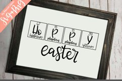 Hoppy Easter|Periodic Table|Handdrawn |SVG|PNG|Easter Bunny Product Image 3