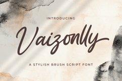 Vaizonlly - Bold Script Font Product Image 1