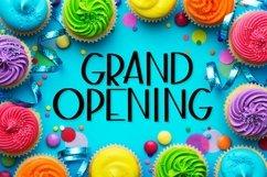 Grand Opening - A Fun Sans Serif Caps font! Product Image 1