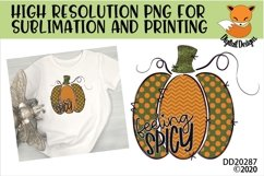 Feeling Spicy Doodle Pumpkin Sublimation Design Product Image 1