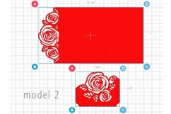 Rose wedding invitation template, Svg files for cricut Product Image 5