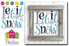 Let it Snow SVG File Product Image 1