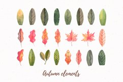 Autumn forest   Watercolor   Fall Product Image 2