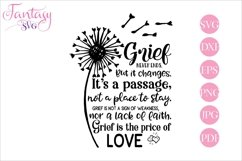 Grief Never Ends - Memorial SVG Cut File Product Image 1