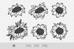 Sunflower svg bundle, flower svg, floral png Product Image 1