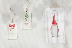 Watercolor Christmas Gnomes PNG clipart collection Product Image 5