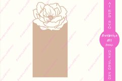 Floral card template svg, Menu card svg, Seating card dxf Product Image 2