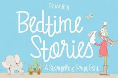 Bedtime Stories Font / Fun Font / Script Font / Line Font Product Image 1