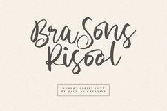 Brasons Risool Modern Script Font Product Image 1