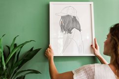 Art Print   Woman wearing a hat that has a modern style Product Image 6