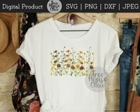 Wildflower Floral Botanical Hand Drawn SVG PNG JPG DXF Product Image 3