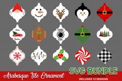 Arabesque Tile Ornament SVG, Christmas Ornament svg Product Image 1
