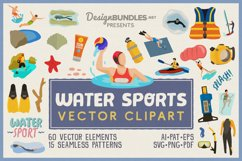Water Sports Vector Clipart and Seamless Patterns Product Image 1