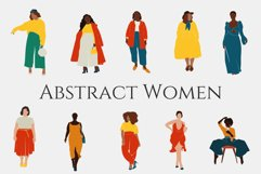 Curvy Woman, abstract clipart, black girl, Plus size Female, Product Image 1