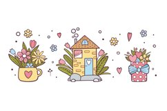 Valentines Day hand drawn beautiful set Product Image 1
