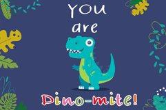 Kid dinosaur Handwritten- cute kid font Kawaii style Product Image 2