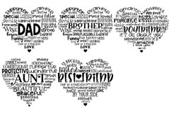 Family Hearts BUNDLE - Svg Cut Files Product Image 3